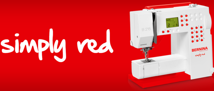 The all new BERNINA 215 Simply Red