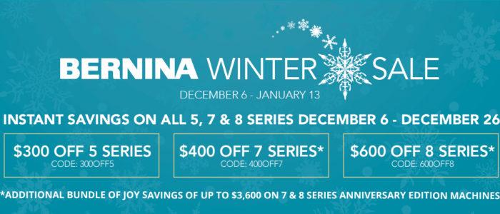 BERNINA Winter Sale 2018