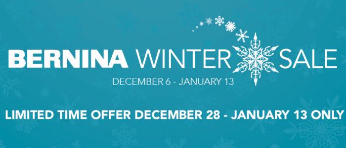 BERNINA Winter sale 2018 (Dec 28 – Jan 13)