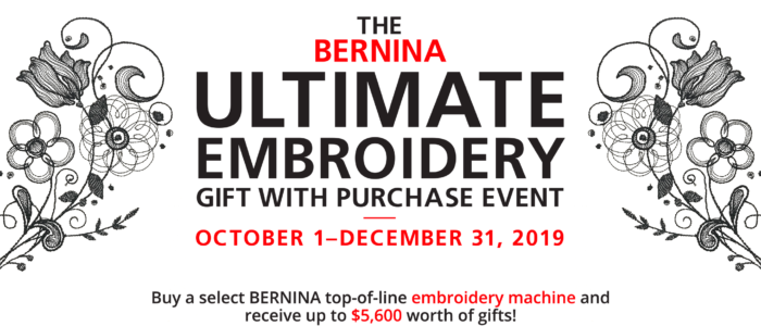 Ultimate Embroidery Gift with Purchase event